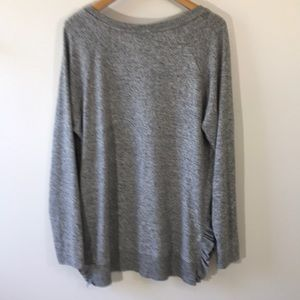 Anthropologie Tops - Anthropologie gray brushes knit top